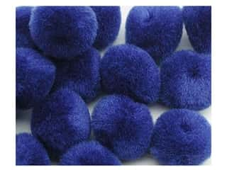 craft & hobbies: PA Essentials Pom Poms 3/4 in. Royal Blue 12 pc.