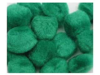craft & hobbies: PA Essentials Pom Poms 1 in. Green 8 pc.