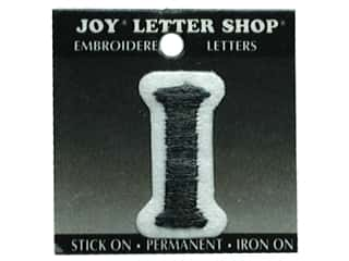 "Joy Lettershop Iron-On Letter ""I"" Embroidered 1 1/2 in. Black"