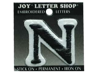 "Joy Lettershop Iron-On Letter ""N"" Embroidered 1 1/2 in. Black"