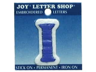 "Joy Lettershop Iron-On Letter ""I"" Embroidered 1 1/2 in. Blue"