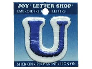 "Joy Lettershop Iron-On Letter ""U"" Embroidered 1 1/2 in. Blue"