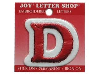"Joy Lettershop Iron-On Letter ""D"" Embroidered 1 1/2 in. Red"