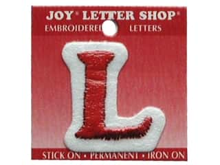 "Clearance: Joy Lettershop Iron-On Letter ""L"" Embroidered 1 1/2 in. Red"