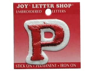 "Joy Lettershop Iron-On Letter ""P"" Embroidered 1 1/2 in. Red"