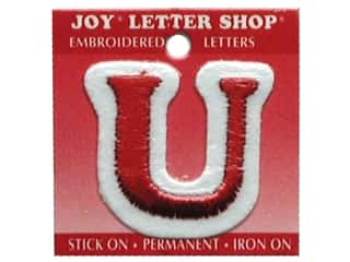"sewing & quilting: Joy Lettershop Iron-On Letter ""U"" Embroidered 1 1/2 in. Red"