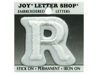"Joy Lettershop Iron-On Letter ""R"" Embroidered 1 1/2 in. White"
