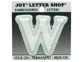 "Joy Lettershop Iron-On Letter ""W"" Embroidered 1 1/2 in. White"