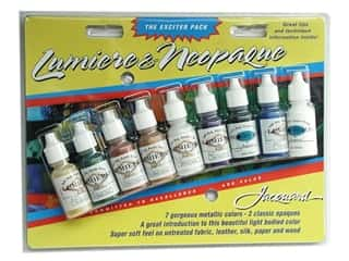 craft & hobbies: Jacquard Paint Exciter Pack Lumiere & Neopaque