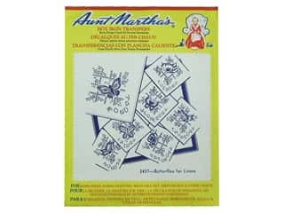 yarn & needlework: Aunt Martha's Hot Iron Transfer #3437 Butterflies for Linens