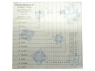 quilt rectangular square ruler: Lazy Girl Flying Geese X 4 No Math Ruler
