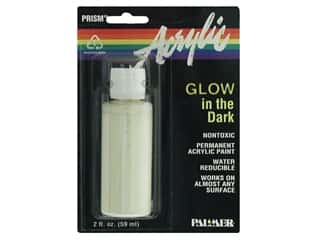 DecoArt Glow In The Dark Paint: Palmer Prism Glow in the Dark Acrylic Paint 2oz