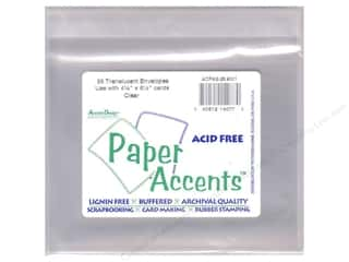scrapbooking & paper crafts: 4 1/4 x 5 1/2 in. Envelopes by Paper Accents 10 pc. #9001 Clear