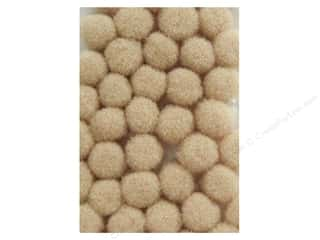 Clearance: PA Essentials Pom Poms 1/8 in. Beige 40 pc.