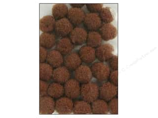 10 mm pom poms: Pom Pom by Accent Design 3/8 in. Brown 100pc.