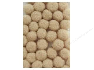 10 mm pom poms: Pom Pom by Accent Design 3/8 in. Beige 100pc.