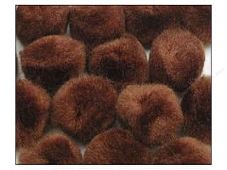 Pom Pom by Accent Design 1/2 in. Brown 100pc.