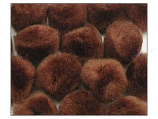 craft & hobbies: PA Essentials Pom Poms 3/4 in. Brown 100 pc.