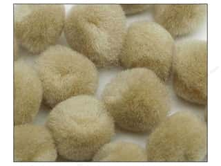 craft & hobbies: PA Essentials Pom Poms 2 in. Beige 50 pc.