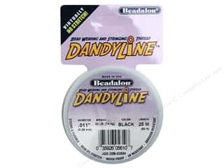 Beadalon Wildfire Bead Thread: Beadalon DandyLine Beading Thread 0.28 mm Black 82 ft.