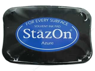 stamps: Tsukineko StazOn Large Solvent Ink Stamp Pad Azure
