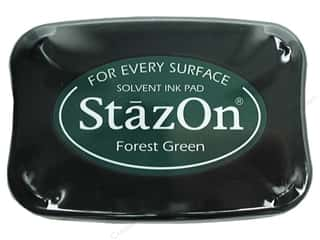 scrapbooking & paper crafts: Tsukineko StazOn Large Solvent Ink Stamp Pad Forest Green