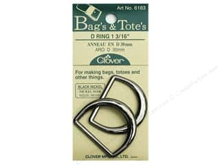 "1 3/16"" D rings: Clover D Rings 1 3/16 in. Black Nickel"