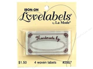Blumenthal Quilting: Blumenthal Iron-On Lovelabels 4 pc. Handmade By