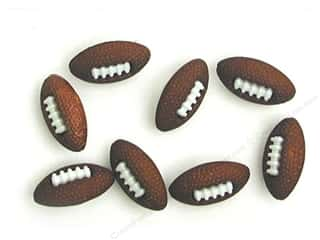 scrapbooking & paper crafts: Jesse James Dress It Up Embellishments Button Fun Footballs