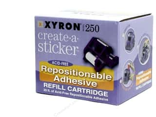glues, adhesives & tapes: Xyron 2 1/2 in. Create-A-Sticker Repositionable Refill 20 ft.