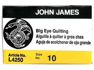John James Big Eye Quilting Needles Size 10 25 pc.