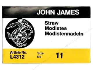 yarn & needlework: John James Milliners Needles Size 11 25 pc. (2 packages)