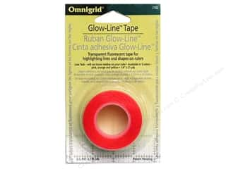 "sewing & quilting: Omnigrid Glow-Line Tape 1/4""x 7' Pink/Orange/Yellow"