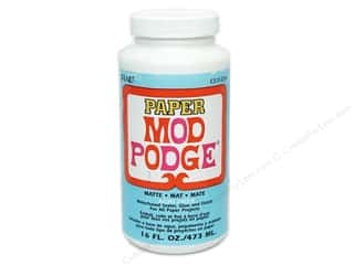 glues, adhesives & tapes: Plaid Mod Podge Paper 16 oz. Matte