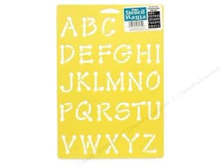 craft & hobbies: Delta Stencil Mania 7 x 10 in. Alphabet Whimsical Dot