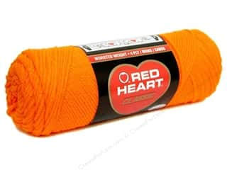 Red Heart Yarn: Red Heart Classic Yarn #249 Orange 190 yd.