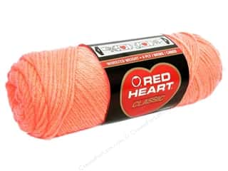 acrylic knitting needle: Red Heart Classic Yarn #246 Sea Coral 190 yd.