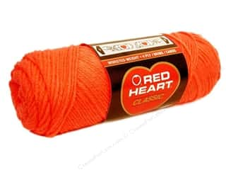 Red Heart Classic Yarn #253 Tangerine 190 yd.