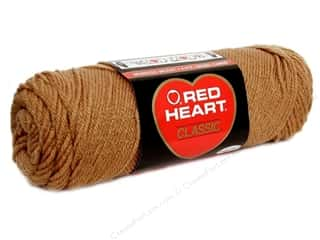 Yarn & Needlework: Red Heart Classic Yarn #336  Warm Brown 190 yd.