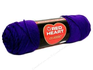 yarn & needlework: Red Heart Classic Yarn #596 Purple 190 yd.