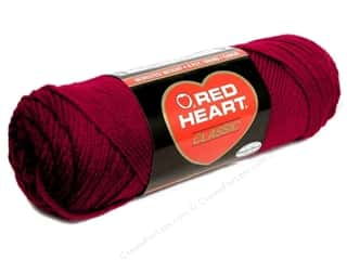 Yarn: Red Heart Classic Yarn 190 yd. #917 Cardinal