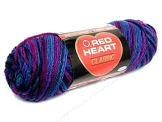 acrylic knitting needle: Red Heart Classic Yarn #959 Gemstone 146 yd.