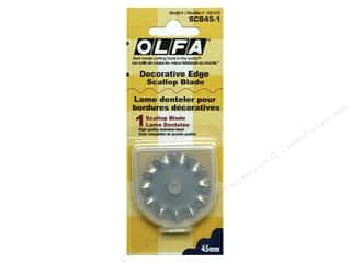 scrapbooking & paper crafts: Olfa Rotary Blade 45 mm Scallop 1 pc.