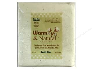 Cotton batting: The Warm Company Warm and Natural Cotton Batting Craft 34 x 45 in.
