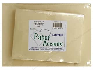 5 x 7 in. Blank Card & Envelopes by Paper Accents 50 pc. Ivory