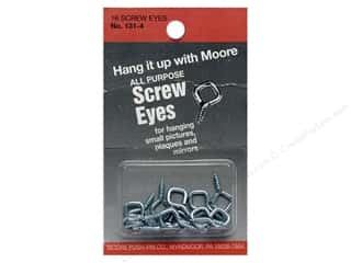 Moore Screw Eyes Diamond Head 16 pc