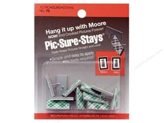 Moore Picture Hangers Pic-Sure-Stays 12pc