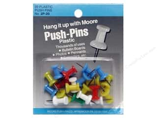 Moore Push Pin Plastic Head 20 pc Assorted Regular
