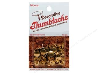 Moore Thumb Tack Decorative Brass 60 pc