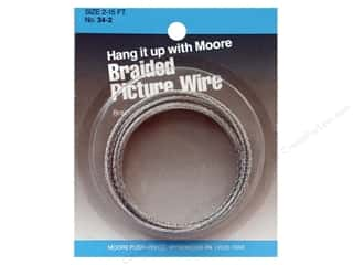 craft & hobbies: Moore Braided Picture Wire 12 Strand 15'